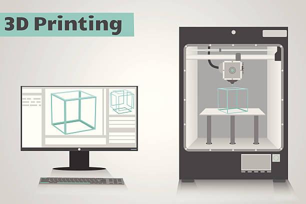 Best 3d Printing Illustrations, Royalty-Free Vector ...