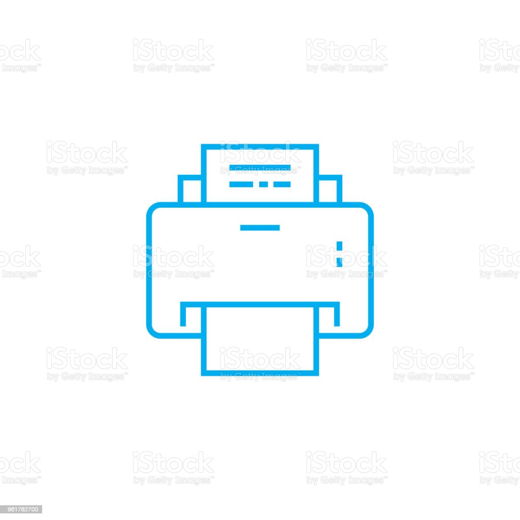Printout of documents linear icon concept. Printout of documents line vector sign, symbol, illustration.
