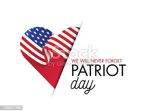 istock PrintPatriot Day USA banner, 9/11. Never forget. Vector illustration. stock illustration 1265041562