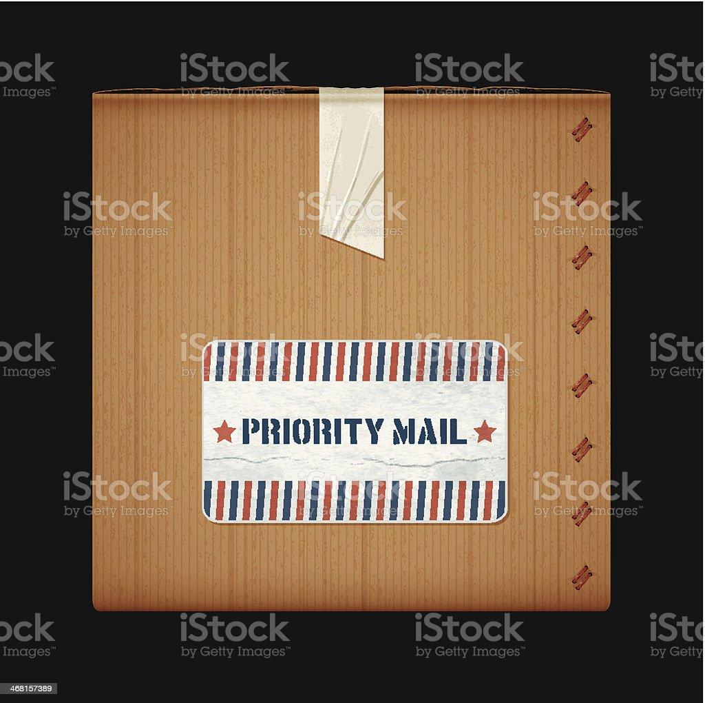 priority mail box vector art illustration