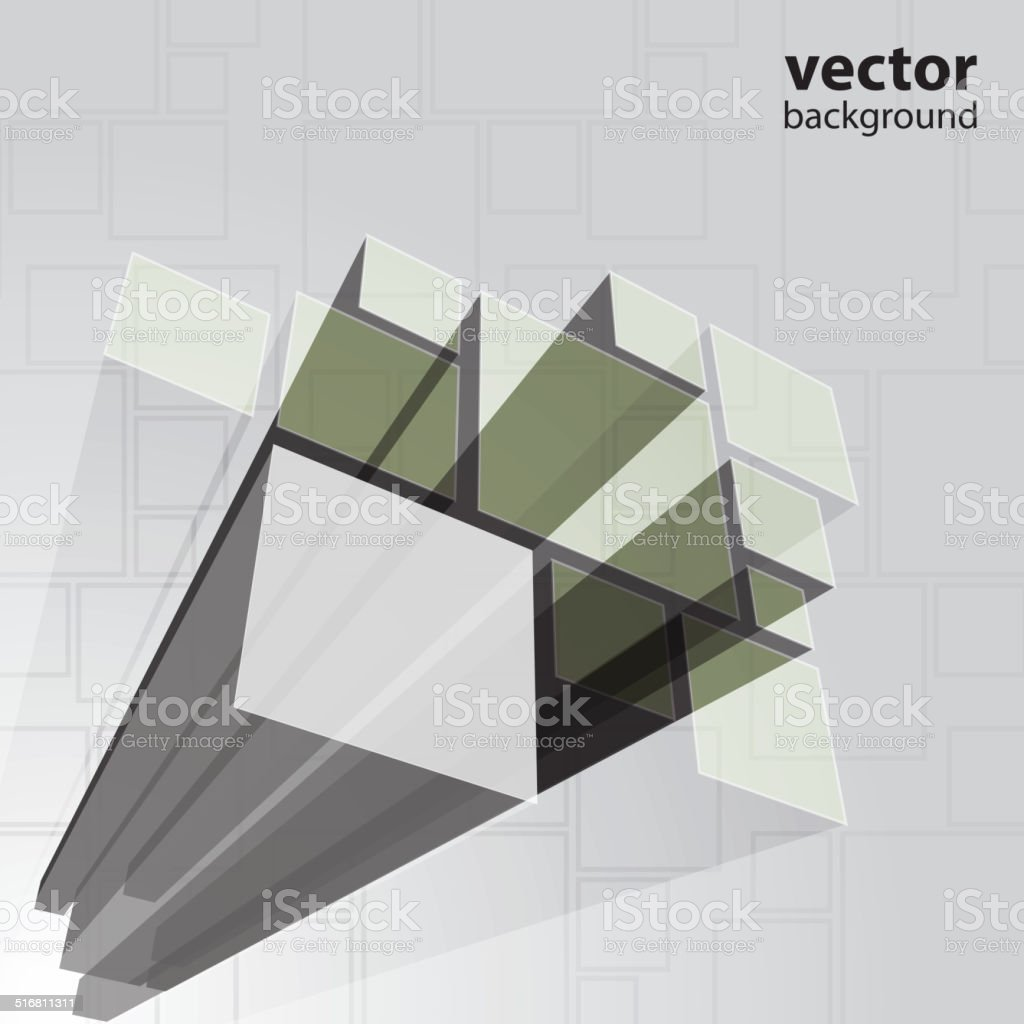 3D Prism Background Template vector art illustration