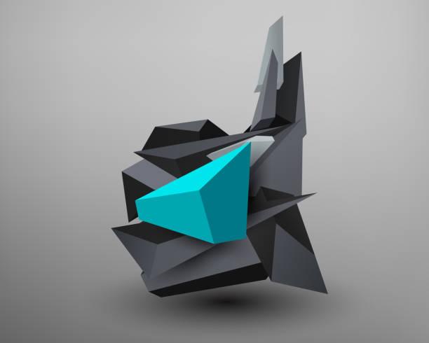 Fuente Prisma 3D - d - ilustración de arte vectorial