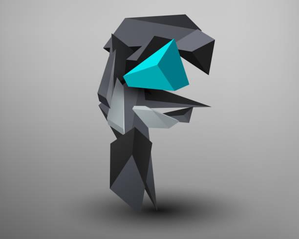 Fuente Prisma 3D - f - ilustración de arte vectorial