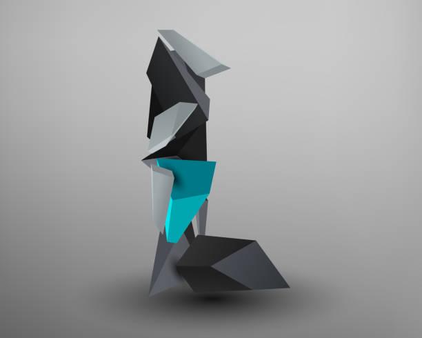 Fuente Prisma 3D - l - ilustración de arte vectorial