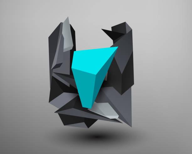 Fuente Prisma 3D - u - ilustración de arte vectorial