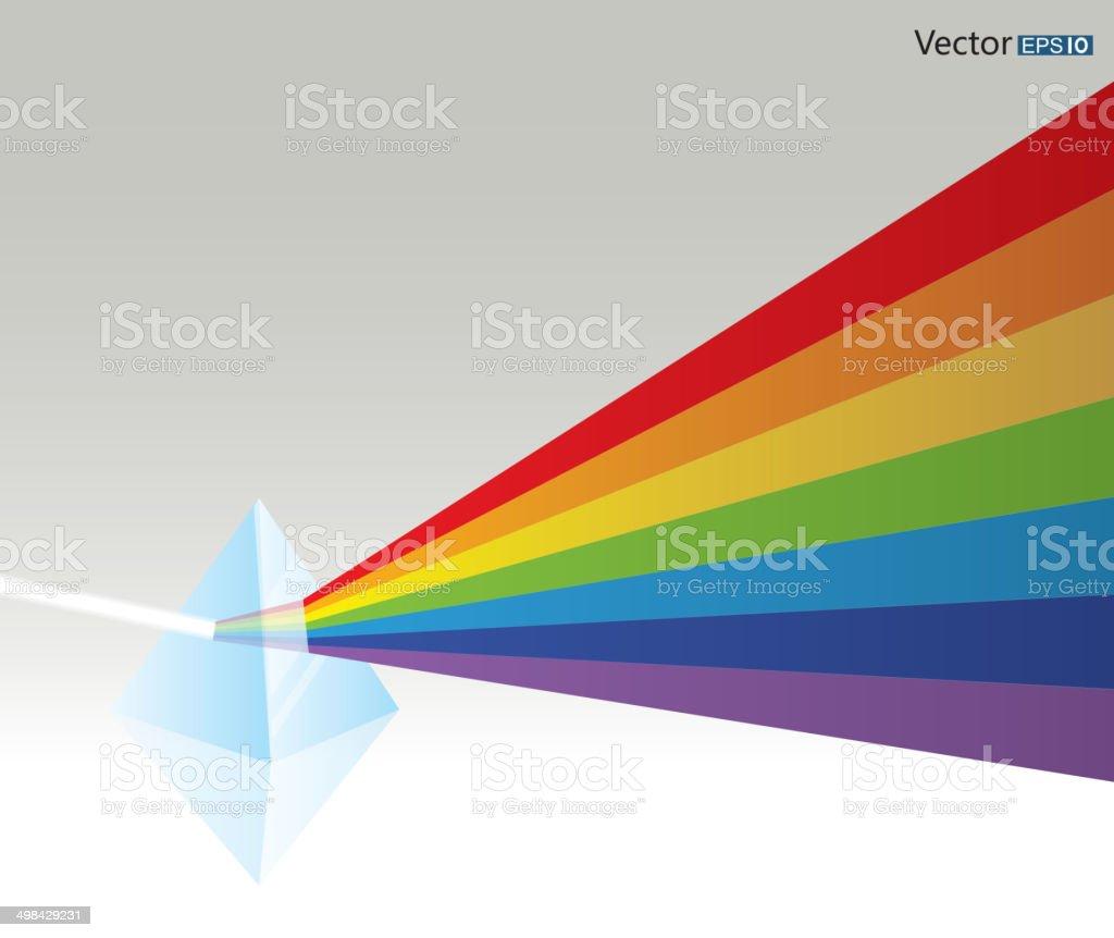 Prism vector art illustration