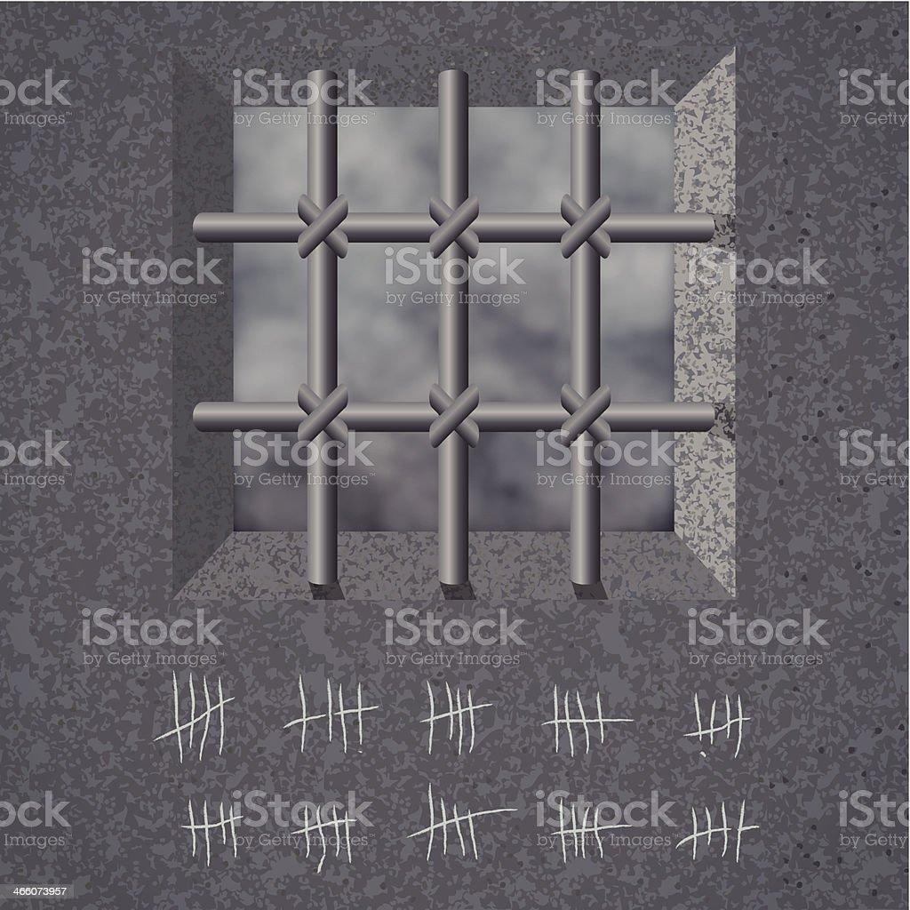 Prison background. Vector vector art illustration