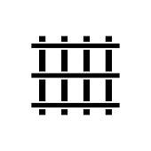 Prison bars icon. Black, minimalist icon isolated on white background.