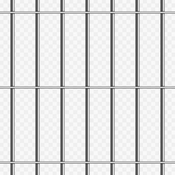 illustrations, cliparts, dessins animés et icônes de barreaux de prison sur transparent. - prison