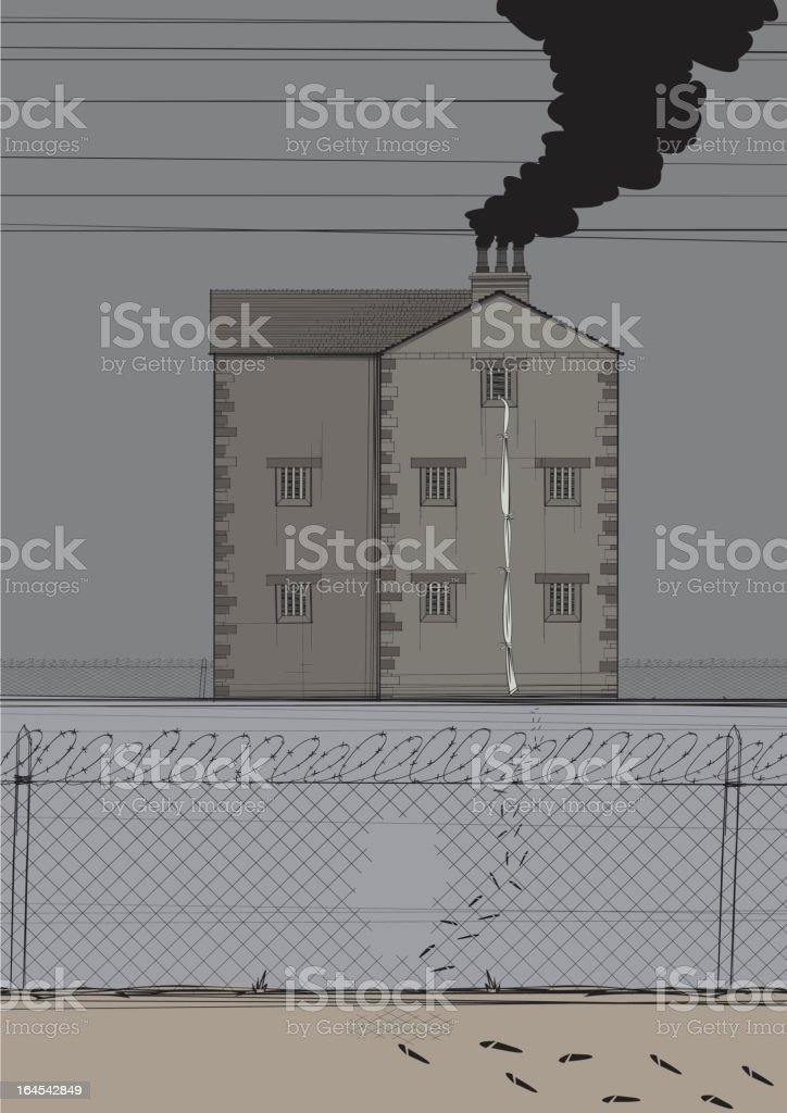 Prison Break royalty-free stock vector art