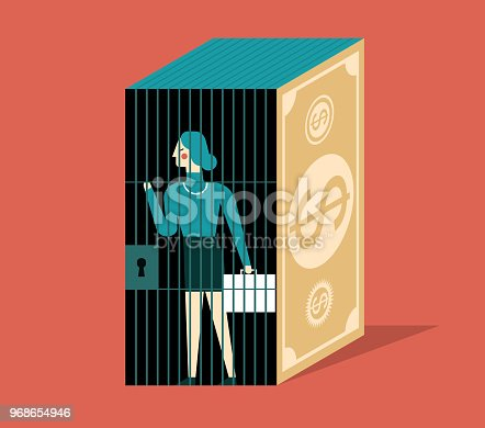 The businesswoman was trapped in a money jail