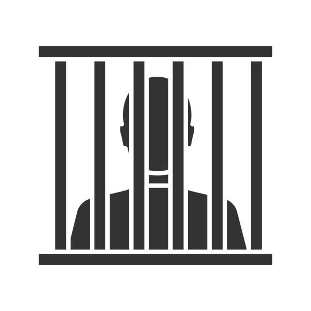 illustrations, cliparts, dessins animés et icônes de icône de prisonnier - prison