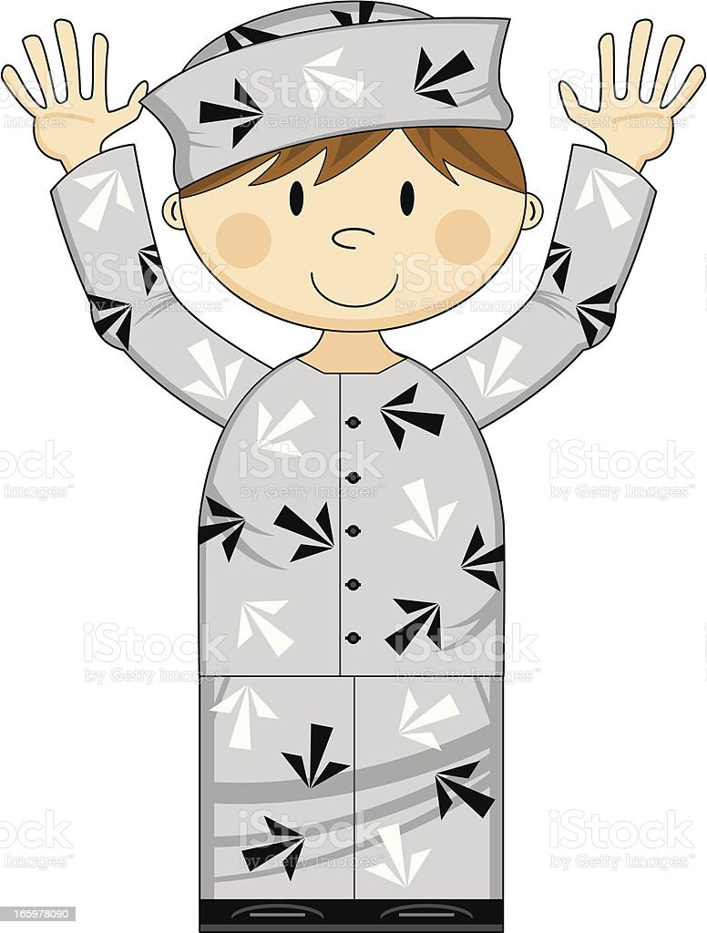 Prisoner in Arrow Uniform royalty-free stock vector art
