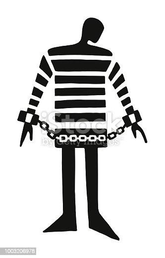 Prisoner in Shackles