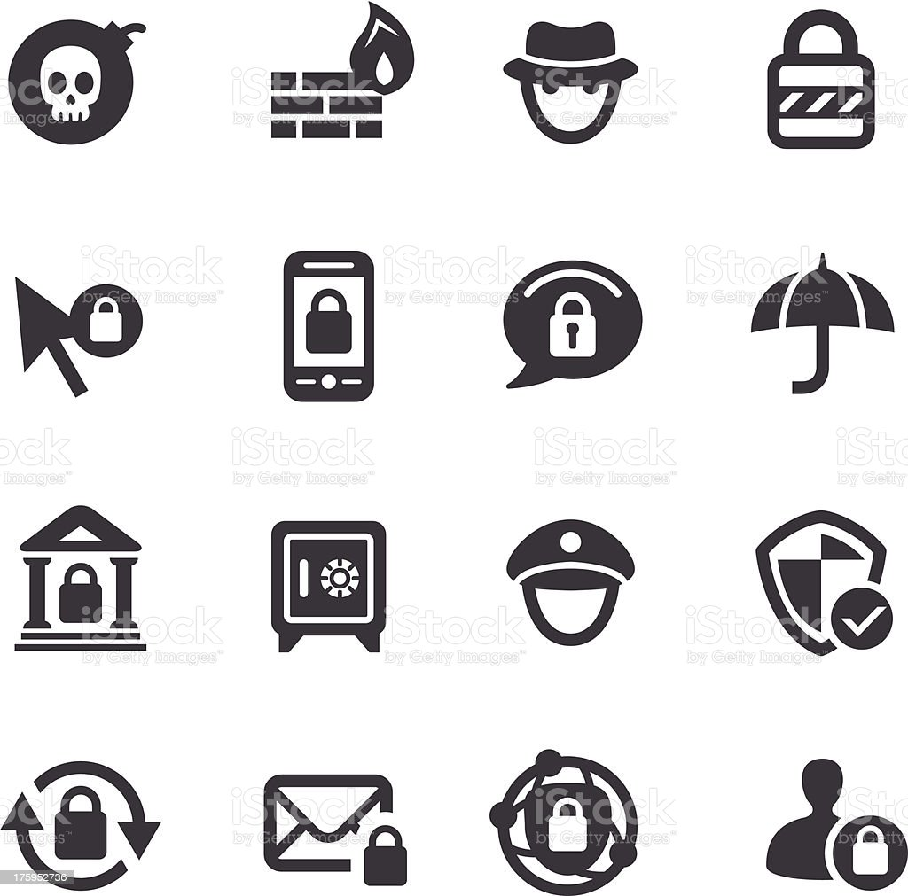 Privacy and Internet Security Icons - Acme Series royalty-free stock vector art
