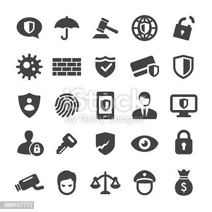 Privacy and Internet Security Icons
