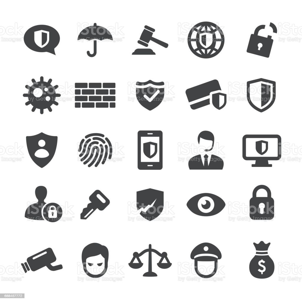 Privacy and Internet Security Icons - Smart Series vector art illustration
