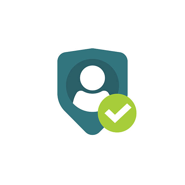 privatsphäre-symbol, persönlichem schutz, authentifizierung sicherheit sichere vertraulichkeit etikette - wesen stock-grafiken, -clipart, -cartoons und -symbole
