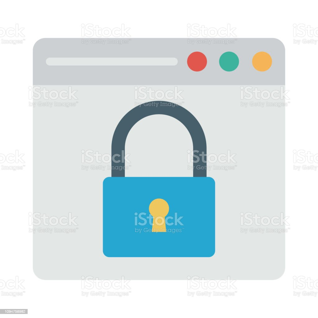 Private Browser Protection Stock Illustration - Download