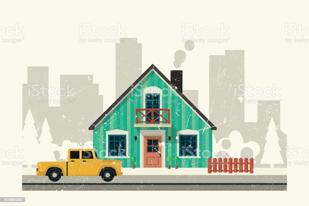 Private house. royalty-free private house stock vector art & more images of aging process