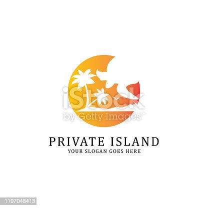 Private Island travel vector inspiration