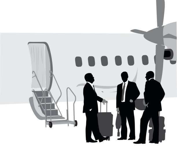 プライベート ジェットの幹部 - 出張点のイラスト素材/クリップアート素材/マンガ素材/アイコン素材
