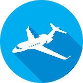 istock Private Jet Icon Silhouette 1152150072