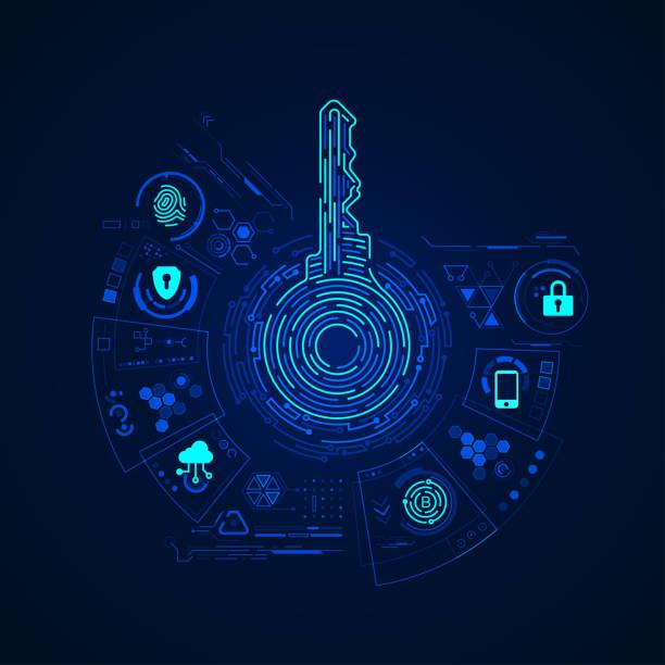 ilustrações, clipart, desenhos animados e ícones de chave privada - chave