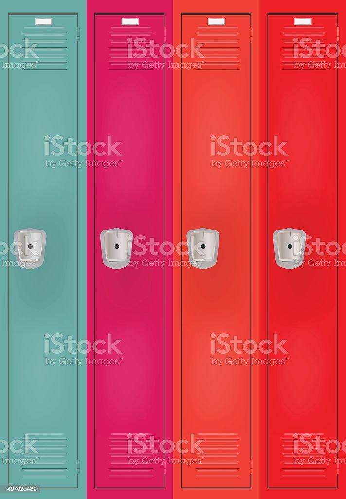 Private lockers vector art illustration