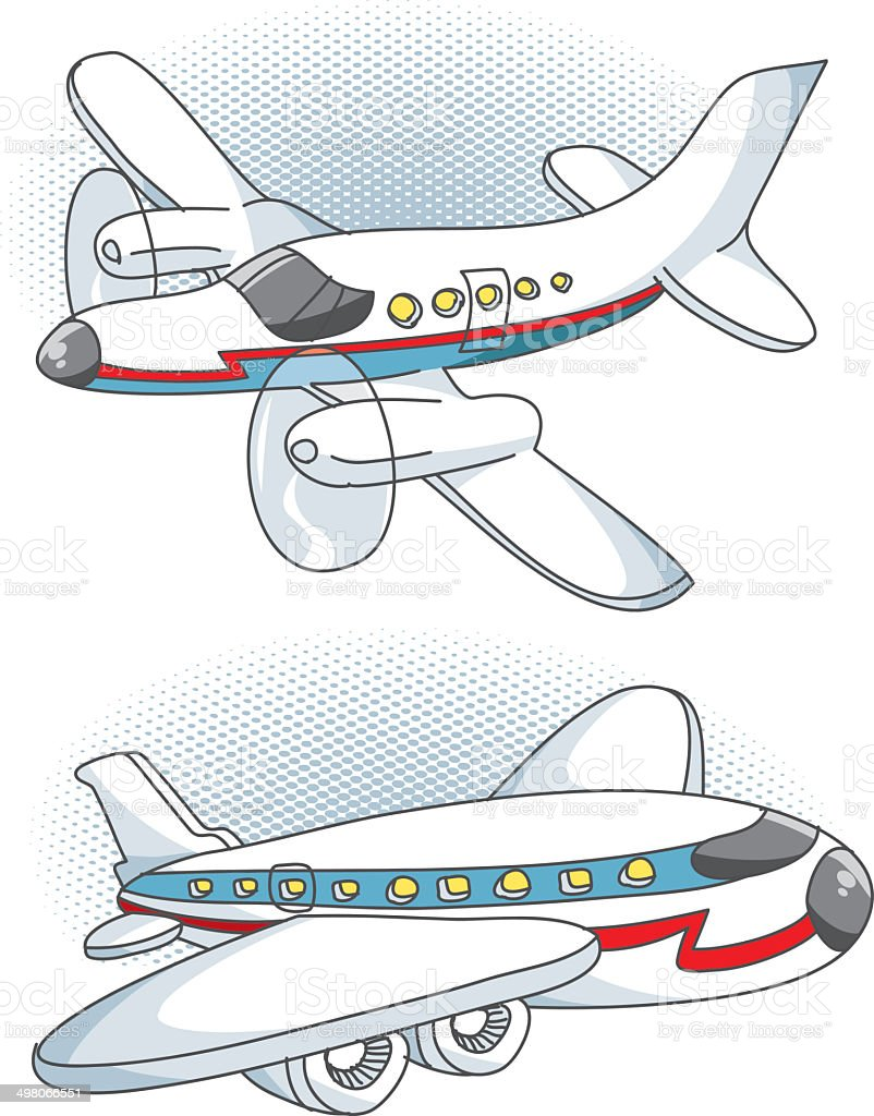 private plane and passenger plane royalty-free private plane and passenger plane stock vector art & more images of air vehicle