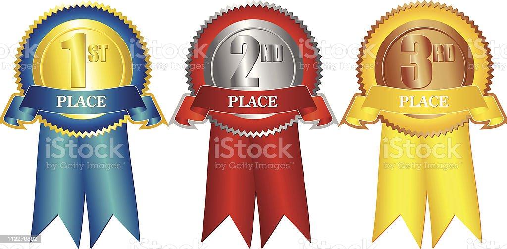 Prize Ribbons royalty-free stock vector art