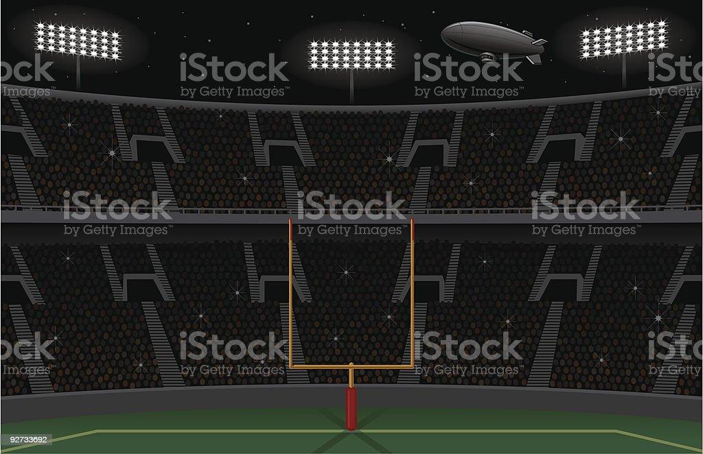 Pro Football Stadium Background - Night Landscape Version royalty-free pro football stadium background night landscape version stock vector art & more images of american football - sport