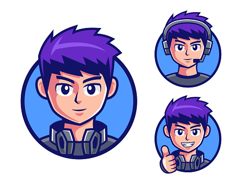 pro Gamers boy logo design