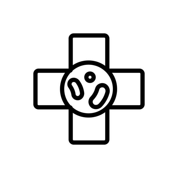 probiotic icon vector. Isolated contour symbol illustration probiotic icon vector. Thin line sign. Isolated contour symbol illustration bifidobacterium stock illustrations