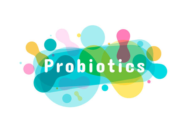 Probiotics bacteria logo. Probiotics bacteria logo. Simple flat style trend modern logotype graphic design isolated on white background. Prebiotic, Lactobacillus Vector Icon Design. lactobacillus stock illustrations