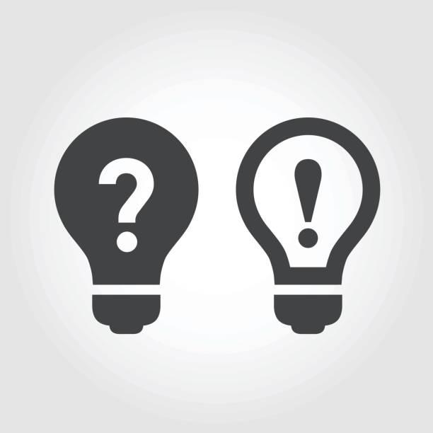 problem und lösung ikonen - kultige serie - gelöst stock-grafiken, -clipart, -cartoons und -symbole