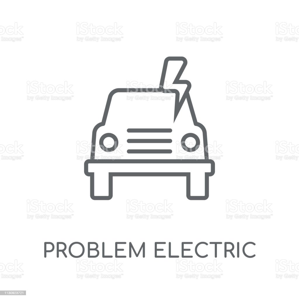 Problem electric linear icon. Modern outline Problem electric logo...