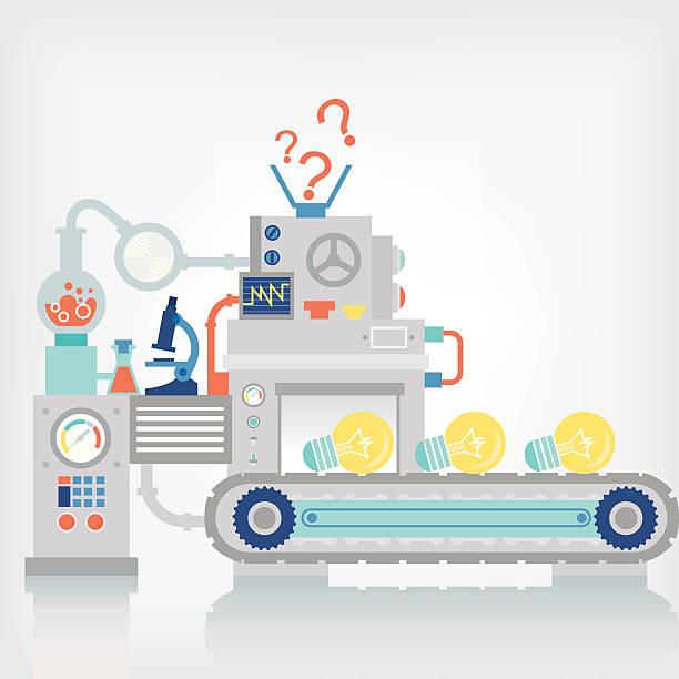 a problem solving machine ideology concept - machine stock illustrations, clip art, cartoons, & icons