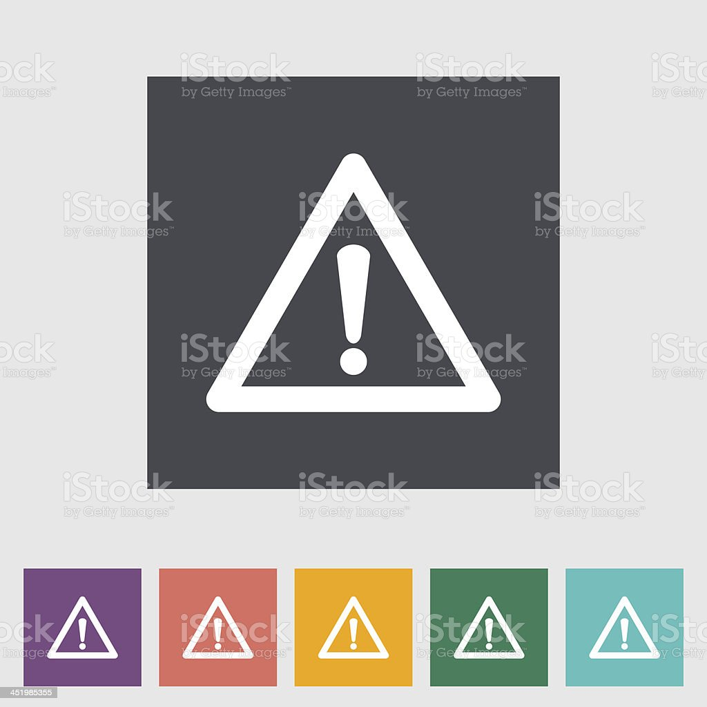 Problems with the car flat icon. vector art illustration