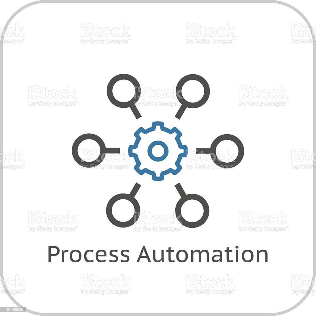 Process Automation Icon. Business Concept. Flat Design. vector art illustration