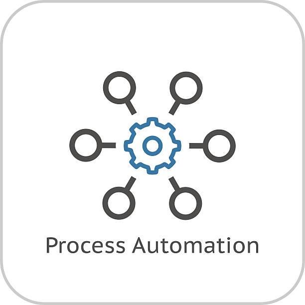 Process Automation Icon. Business Concept. Flat Design. vector art illustration