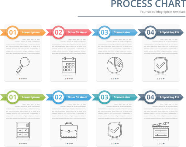 process chart - flowing stock illustrations, clip art, cartoons, & icons