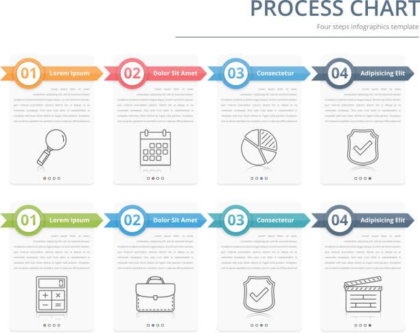 prozess-tabelle - flowchart infografiken stock-grafiken, -clipart, -cartoons und -symbole