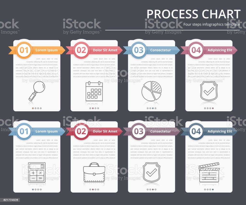 Process Chart向量藝術插圖