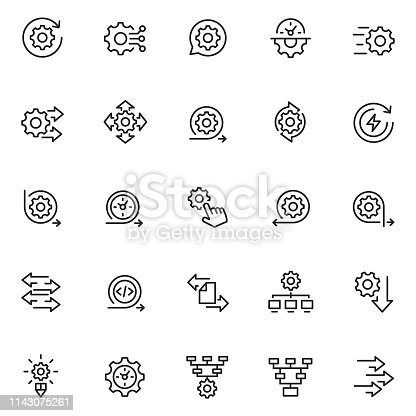 Process icon set