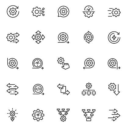 Process icon set