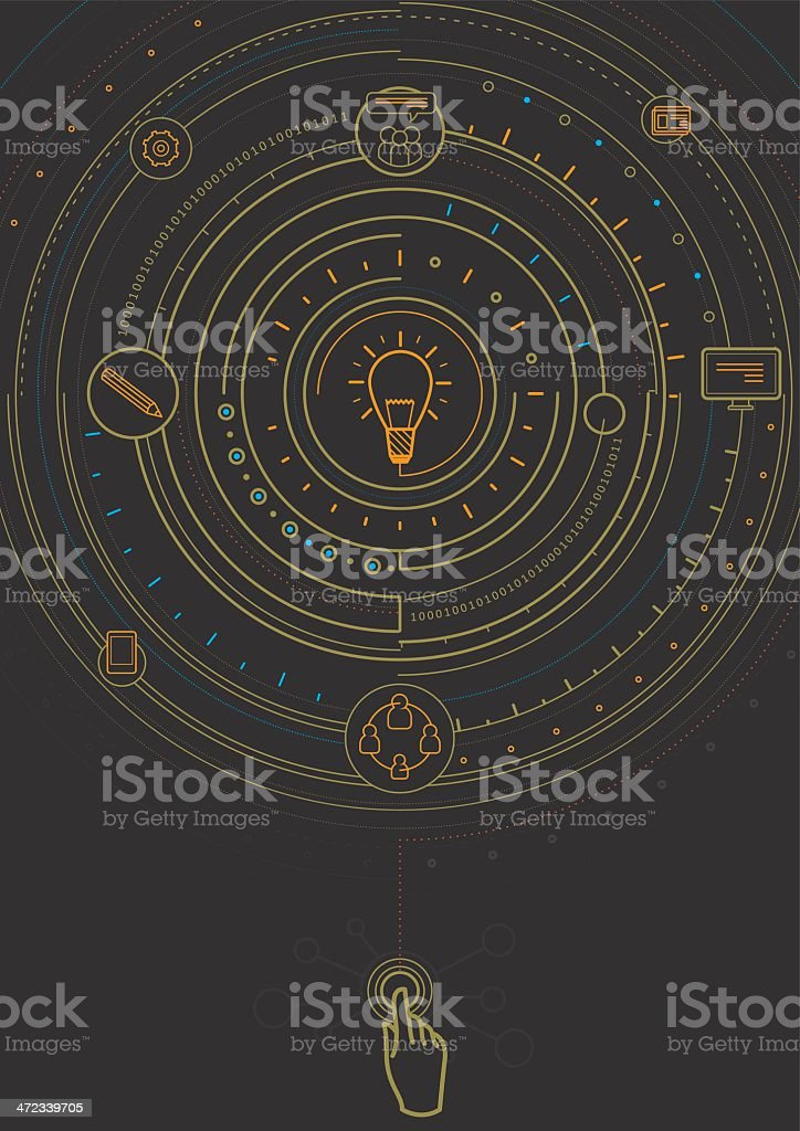 Process of idea royalty-free process of idea stock vector art & more images of attached
