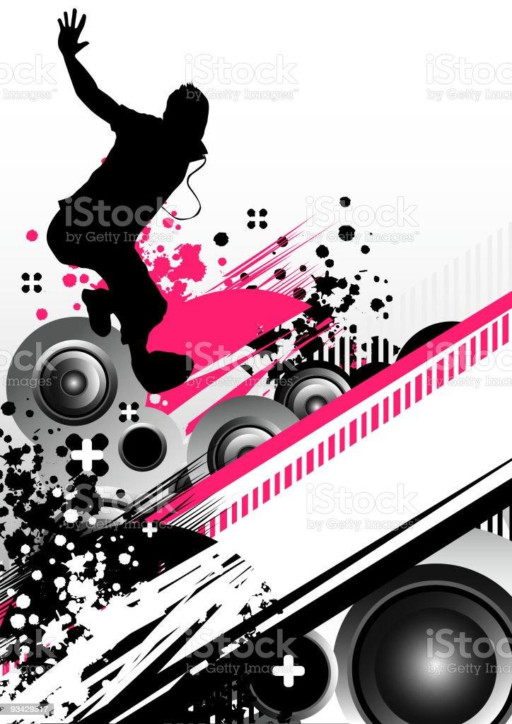 Processed Beats vector art illustration