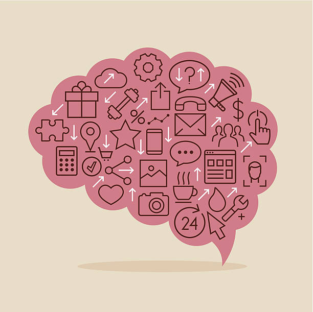 Processing information vector art illustration