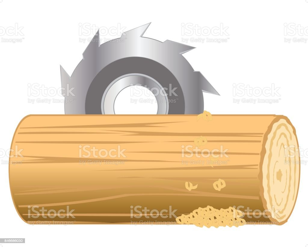 Processing log vector art illustration